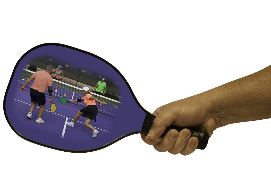 Pickleball Action in a Paddle