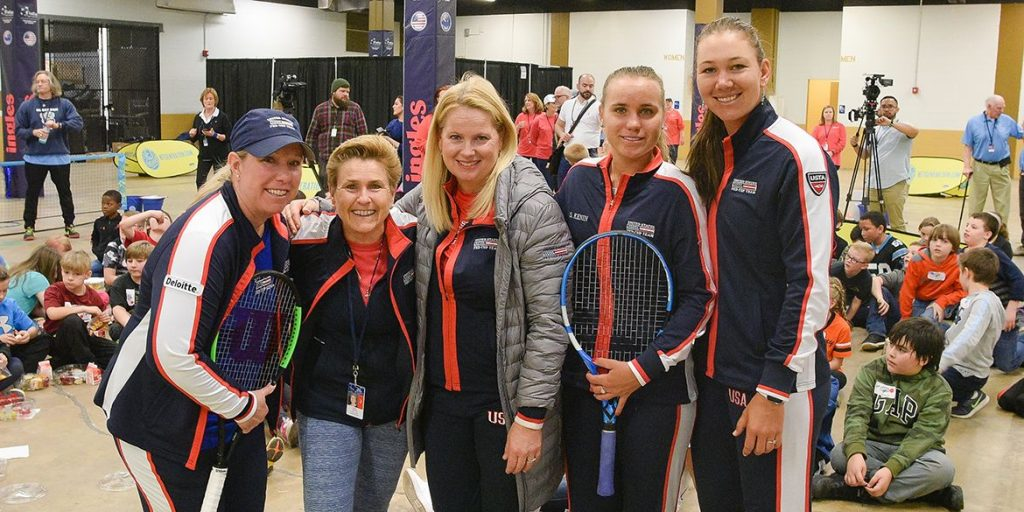 Kelly Gaines at the Fed Cup in Asheville, NC